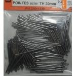 160 POINTES ACIER TETE HOMME 30mm