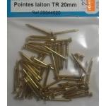 50 POINTES LAITON TETE RONDE 20mm