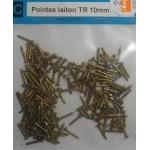 195 POINTES LAITON TETE RONDE 10mm