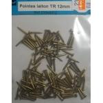 121 POINTES LAITON TETE RONDE 12mm
