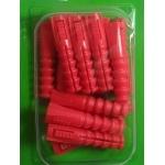 14 Chevilles rouges Ø 8mm pour vis de 5 A 7mm