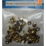 25 RIVETS TUBULAIRES D=7mm L=9mm