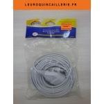 Rallonge électrique simple 10 mètres blanc