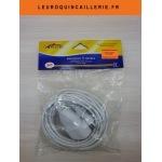 Rallonge électrique simple 5 mètres blanc