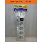 Multi-prises bloc 4 Prises avec interrupteur