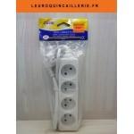 Multi-prises bloc 4 Prises sans interrupteur