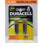 2 Piles rechargeable Duracell HR6 AA