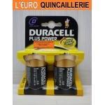 2 Piles LR20 D 1,5V. Duracell Plus Alkaline
