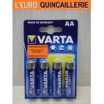 4 Piles LR6 AA Varta High Energy 1,5V