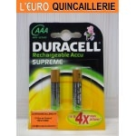 2 Piles rechargeable Duracell HR03 AAA