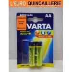 2 Piles rechargeable Varta HR6 AA prêt à l'emploi
