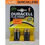 4 Piles LR03 AAA Duracell 1,5V