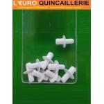 8 Taquets d?étagère cylindriques plastiques 5/6mm