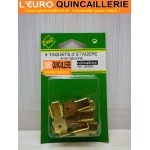 8 TAQUETS DETAGERE POUR CREMAILLERE