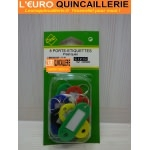 8 porte etiquettes plastique couleur assorties