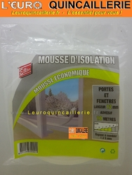 JOINT D'ISOLATION MOUSSE ADHESIF 12MM
