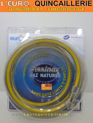 TUYAU DE GAZ FLEXIBLE 2 METRES INOX ILLIMITE