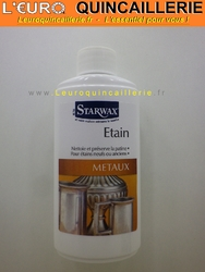 NETTOYANT POUR L'ETAIN STARWAX METAUX