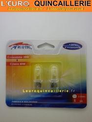 Ampoule halogène G9  28w=40w