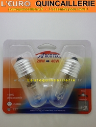 Ampoule halogène  E27 28w=40w
