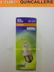 Ampoule Halogène tube E27 économique 80W=100W