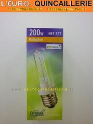 Ampoule Halogène tube E27 économique 200W=250W