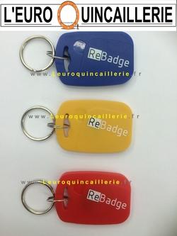 Badges éléctronique bleu, jaune, rouge