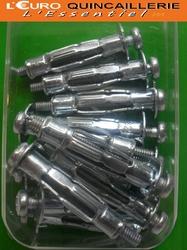 12 CHEVILLES METALLIQUES MATERIAUX CREUX D8X32mm VIS 4x40mm (2)