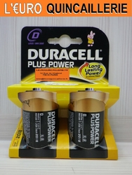 2 PILES LR20 D DURACELL PLUS POWER