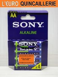 4 PILES LR6 AA SONY ALKALINE