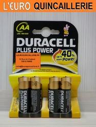 4 PILES LR6 DURACELL PLUS POWER