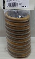 10 ANNEAUX BOIS TEINTE MERISIER 50x70mm