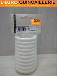 10 ANNEAUX PLASTIQUE BLANC 50x70mm