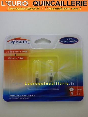 Ampoule halogène   G4 20w=35w