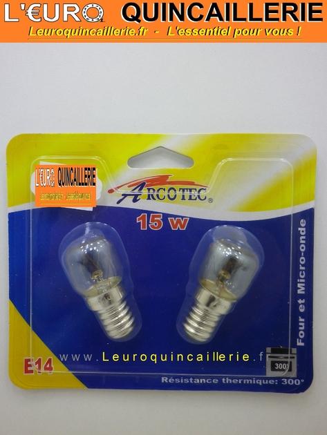 ampoule pour four et micro onde e14 15w clairage ampoules frigo four. Black Bedroom Furniture Sets. Home Design Ideas