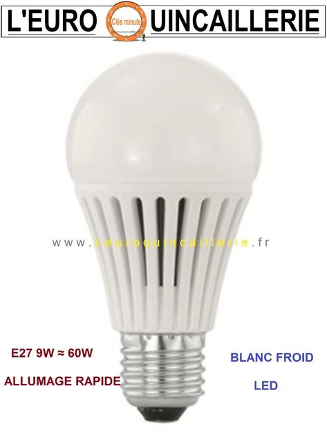 ampoule led standard e27 10w 60w blanc froid ampoules a led e27 moins cher economique. Black Bedroom Furniture Sets. Home Design Ideas