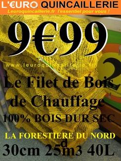 BUCHES BOIS DE CHAUFFAGE 30CM 25DM3 40L Moins cher