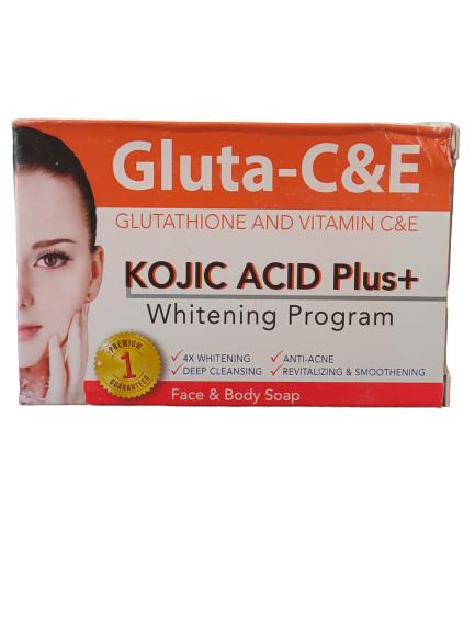 GLUTA C&E SAVON ECLAIRCISSANT GLUTATHIONE VIT C&E KOJIC ACID PLUS