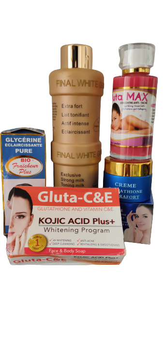 GLUTATHIONE GAMME BLANCHISSANTE PEAUX REBELLES 5 PIECES EXTRA FORT