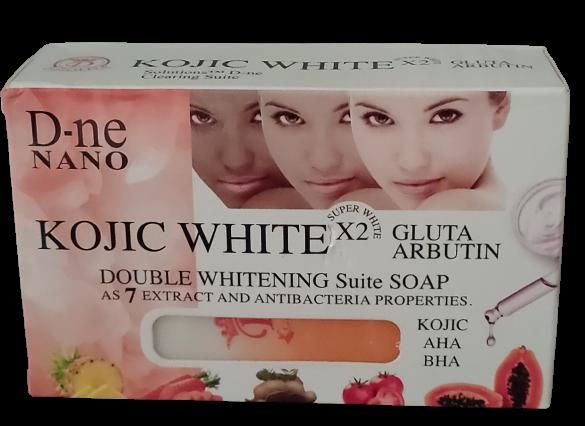 KOJIC WHITE DOUBLE SAVON GLUTA ARBUTIN AHA SUPER ECLAIRCISSANT 160 G