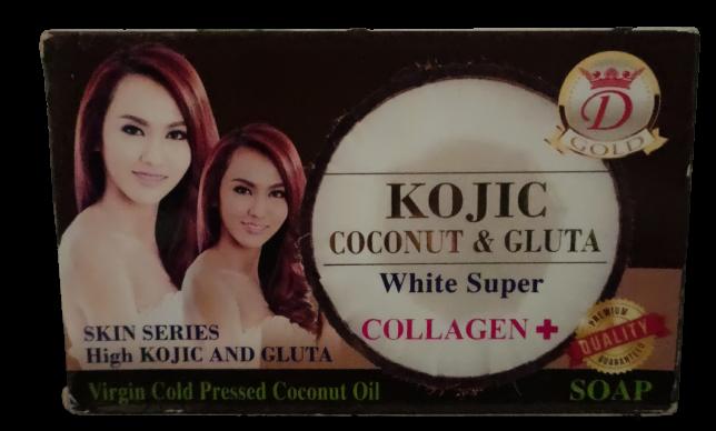 KOJIC COCONUT & GLUTA SUPER WHITE COLLAGEN +SAVON ECLAIRCISSANT 160 GR
