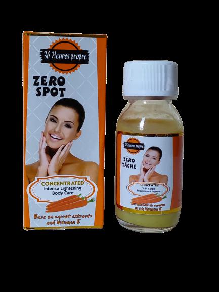 zéro Tâche  serum concentré eclaircissant  aux extraits de carottes et vitamine E