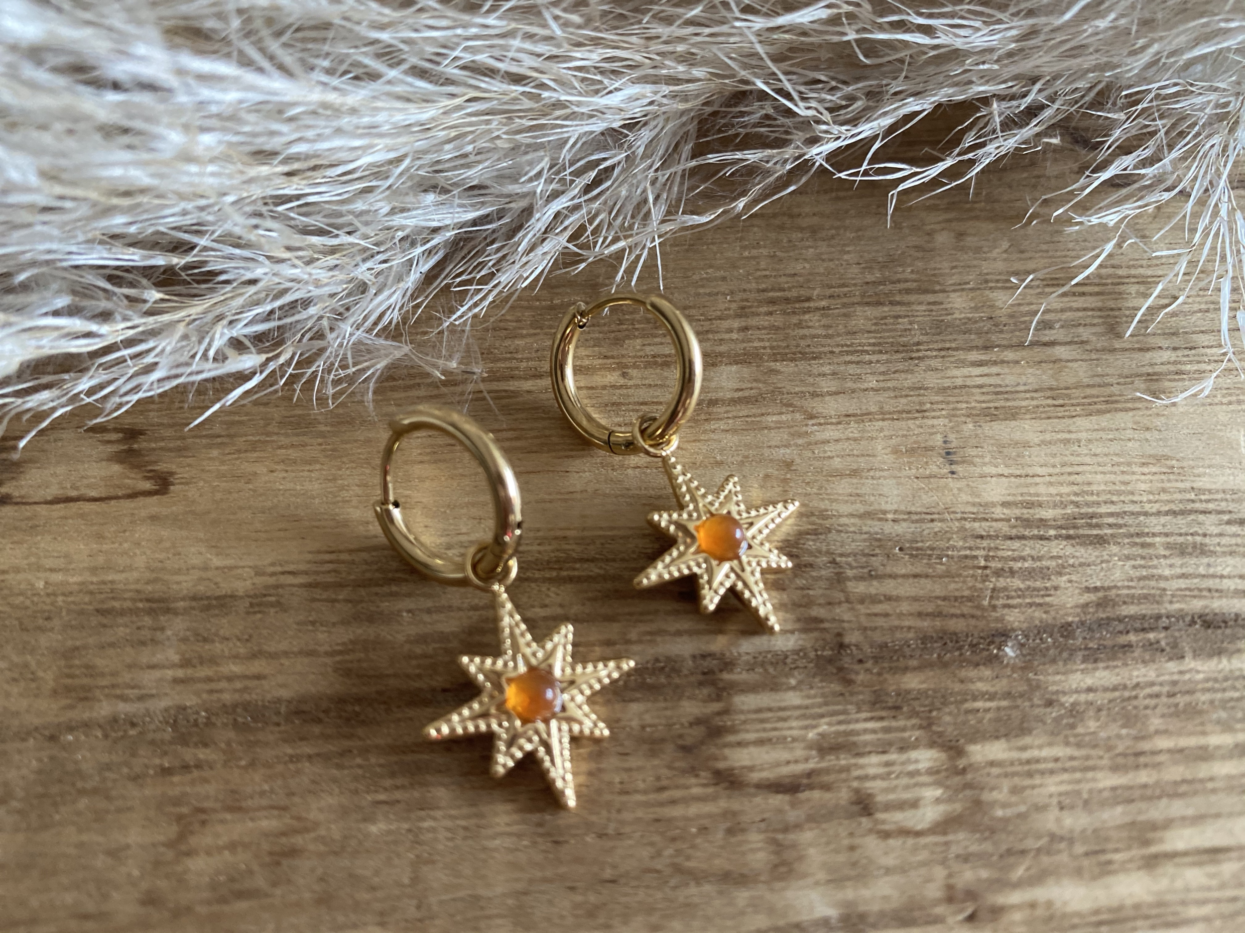 Boucles d\'oreilles Stella Orange