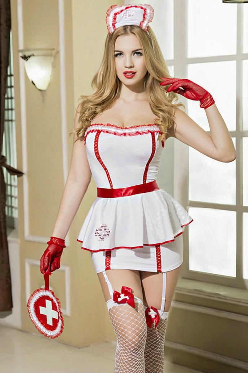 Déguisement sexy infirmière 8 pièces - Paris Hollywood
