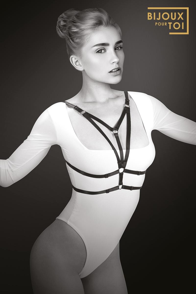 Harnais de poitrine glamour - Laura