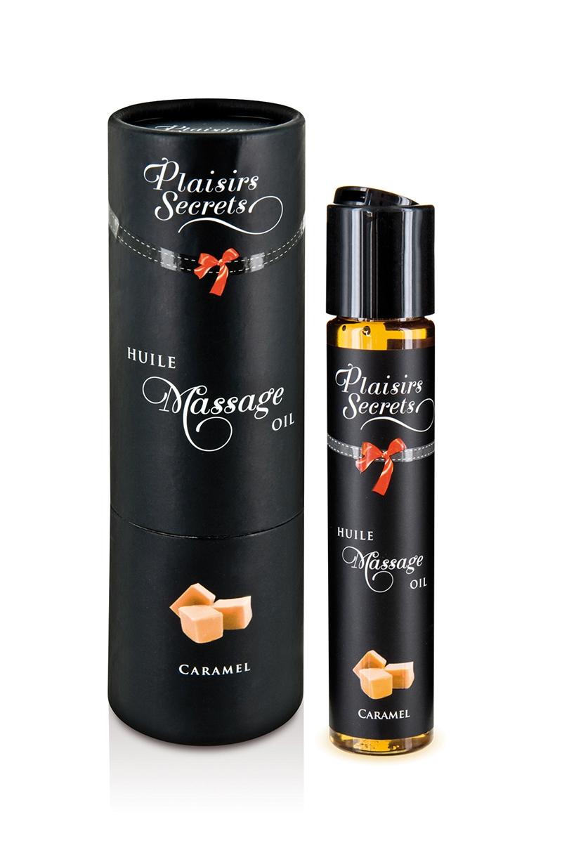 Huile de massage gourmande comestible saveur caramel, 59ml de lamarque plaisir Secret, oohmygod