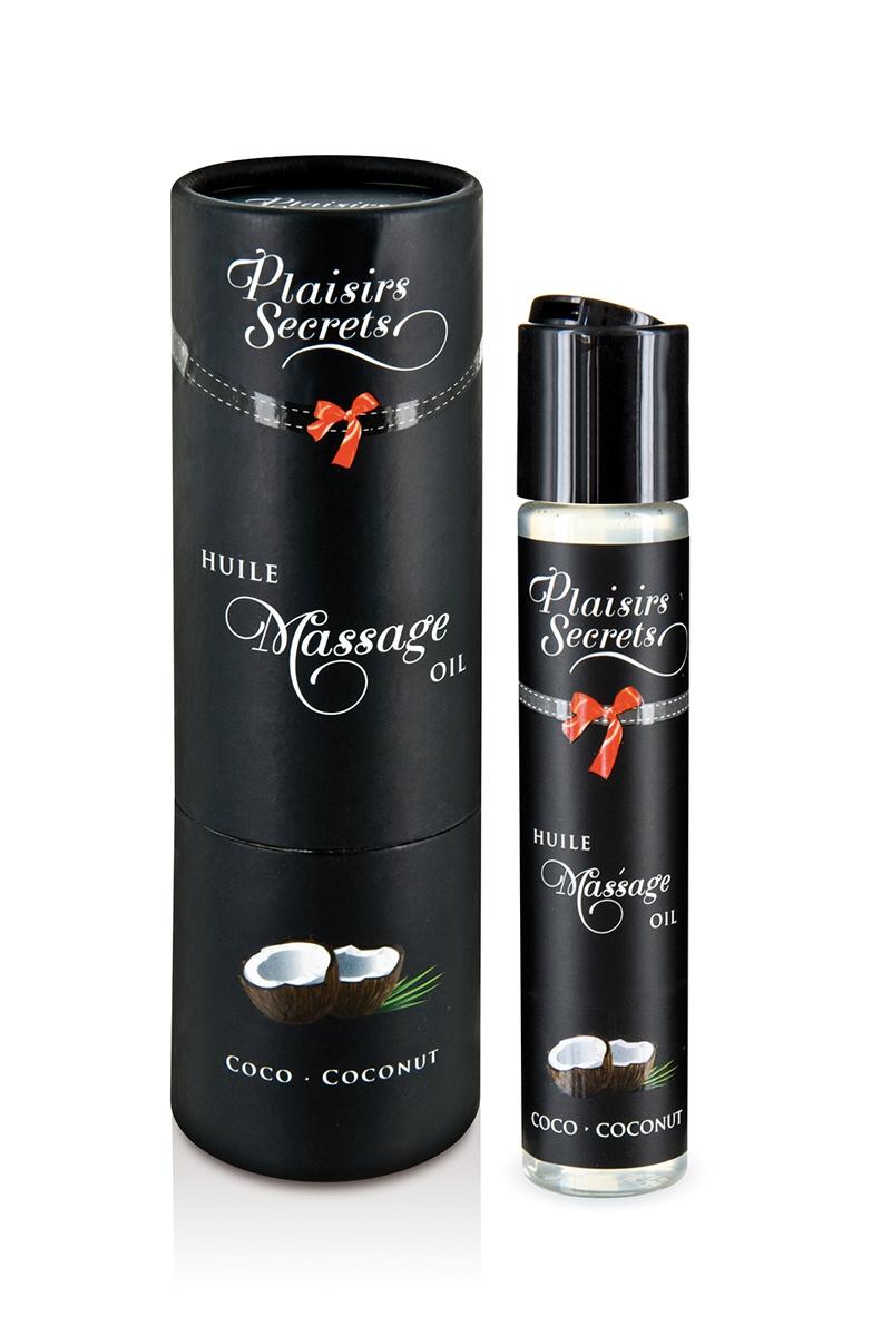 Huile de massage gourmande Noix de coco - Plaisir Secret