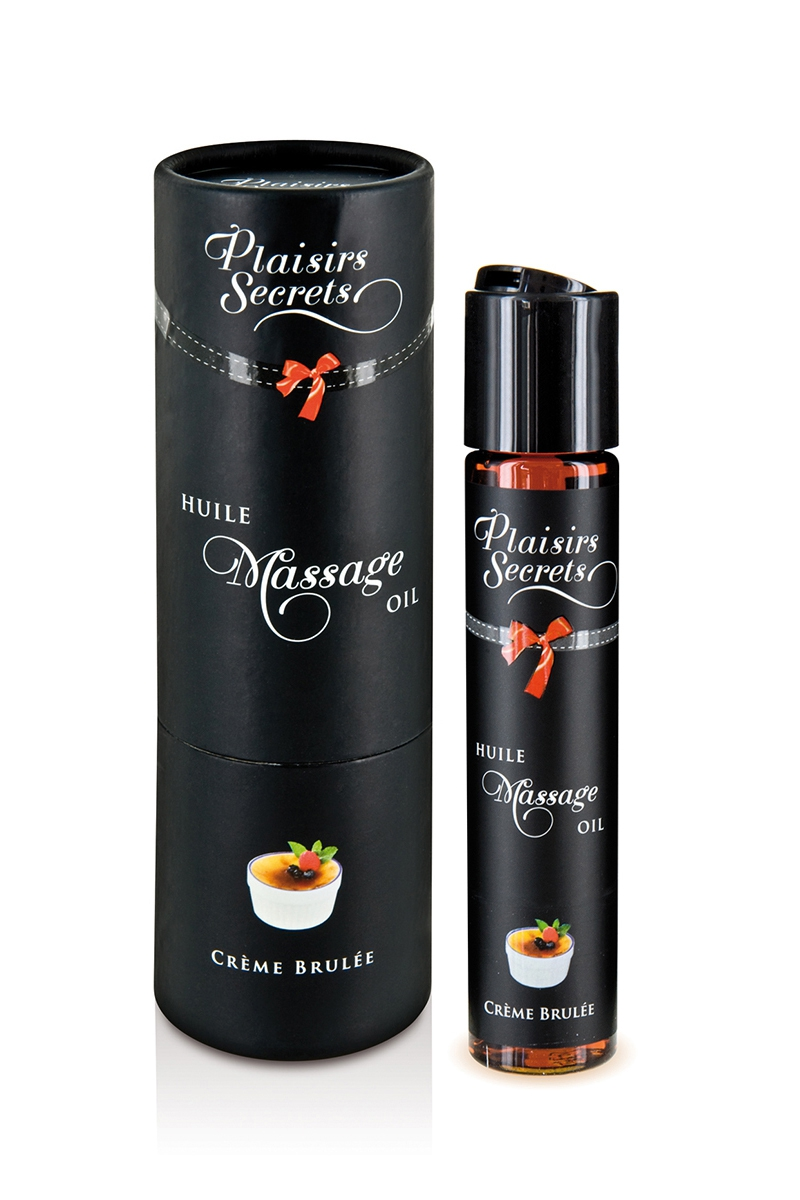 huile de massage gourmande crème brulée de la marque Plaisir Secret