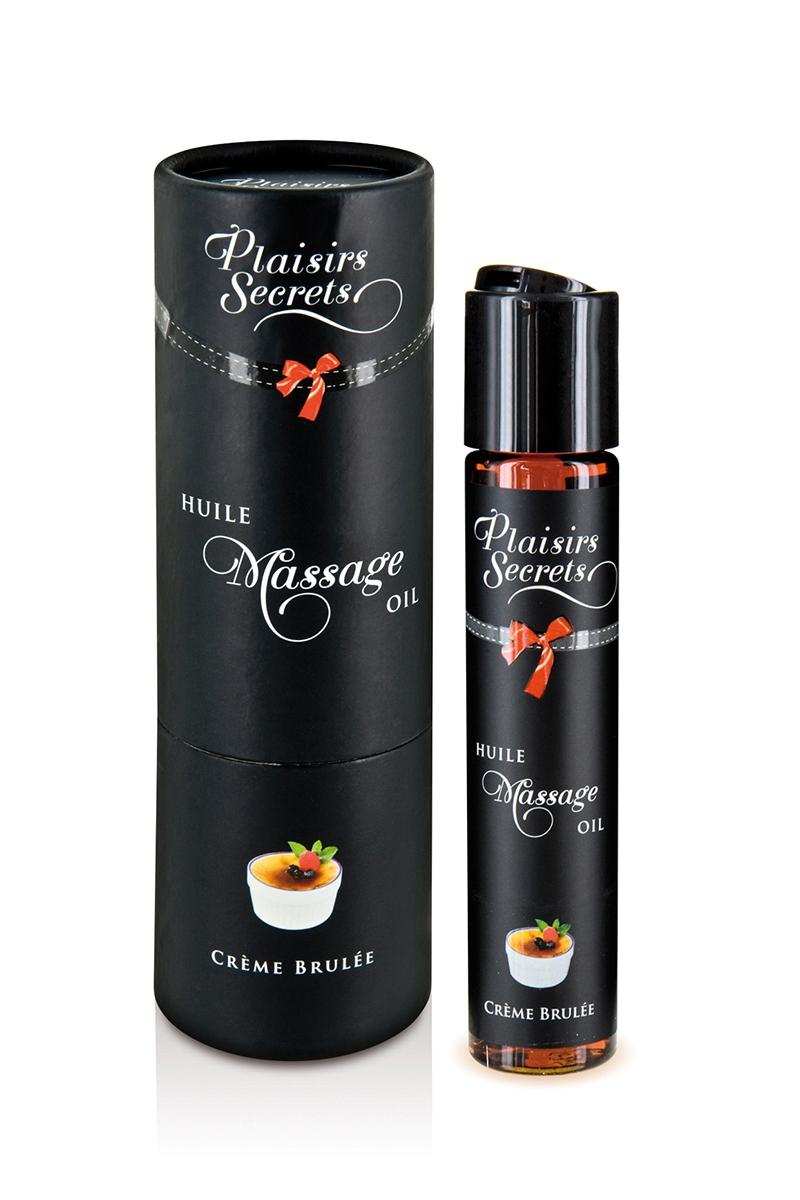 Huile de massage gourmande - Crème Brulée