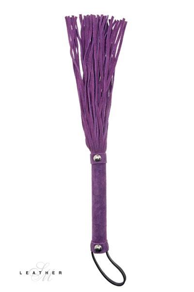 Martinet en daim et cuir violet - Leather SM